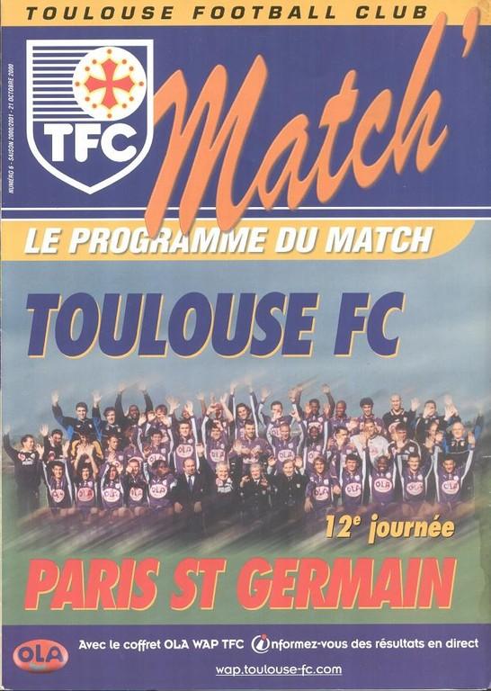 2000-10-21  Toulouse-PSG (12ème D1, TFC Match N°6)