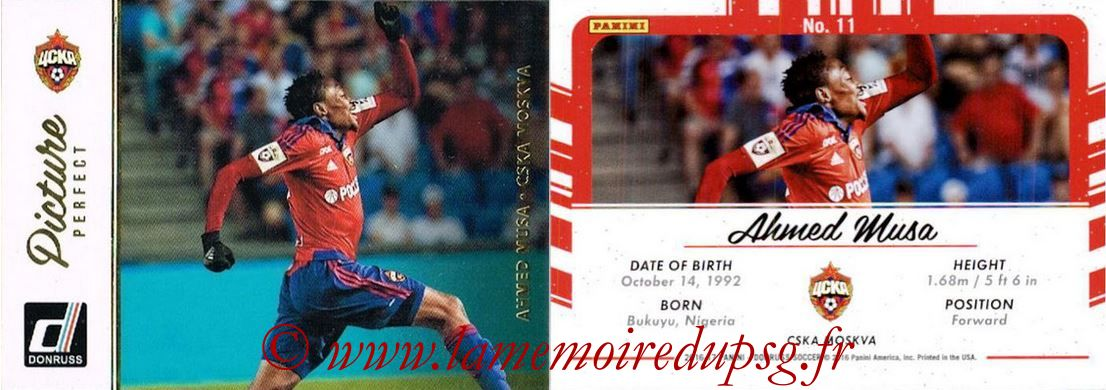 2016 - Panini Donruss Cards - N° PP11 - Ahmed MUSA (CSKA Moscou) (Picture Perfect)