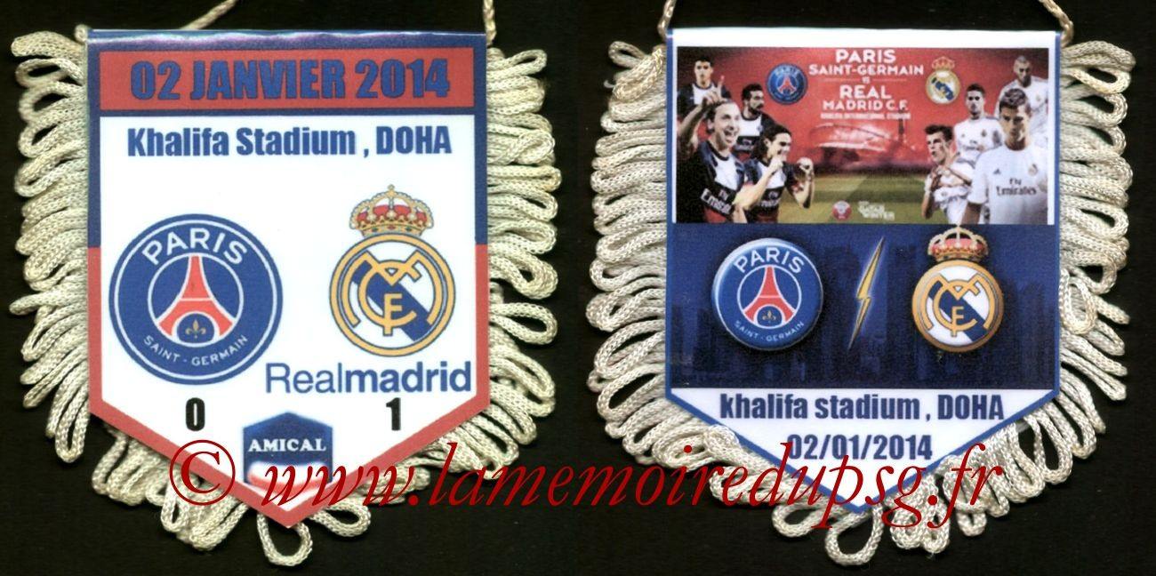 2014-01-02  PSG-Real Madrid (Amical à Doha)