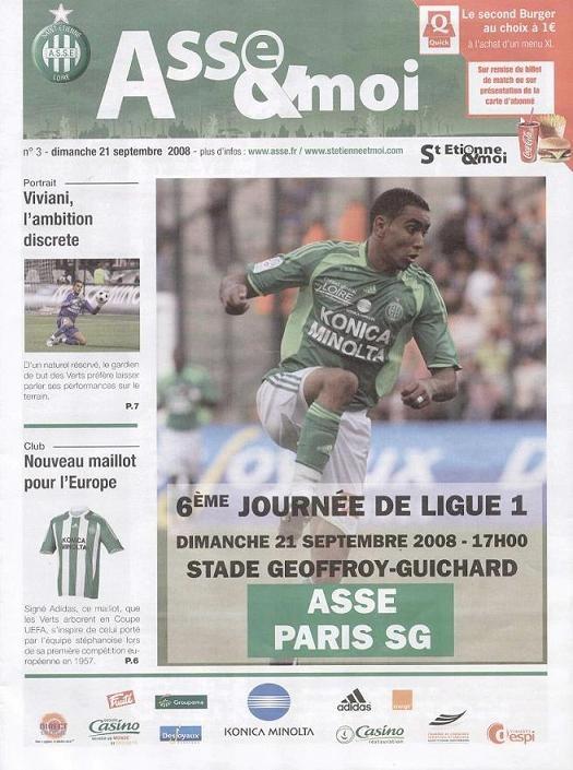 2008-09-21  Saint Etienne-PSG (6ème L1, Asse & moi N°3)