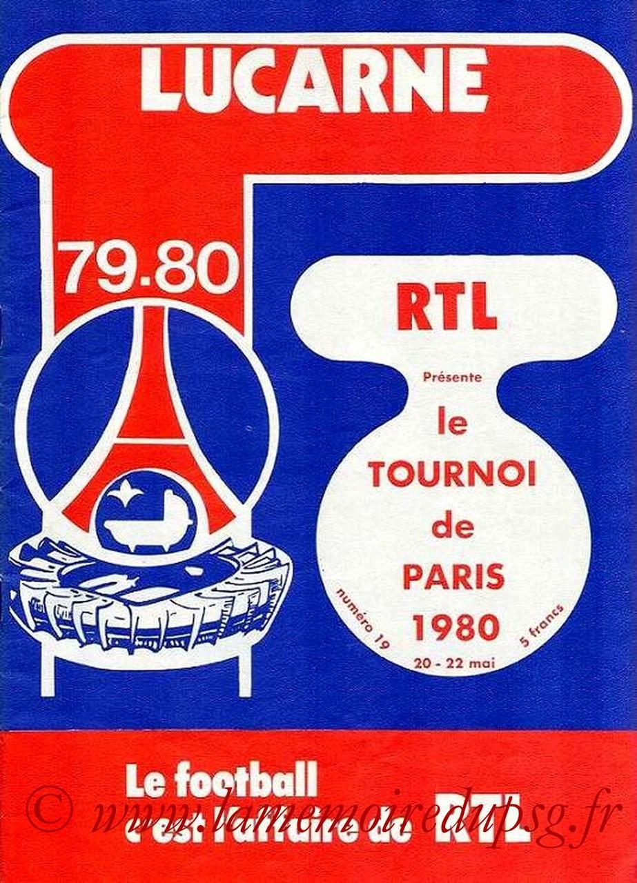 1980-05-20 et 22  PSG-Ajax Amsterdam et PSG-Standard de Liège (Tournoi de Paris, Lucarne N°19)