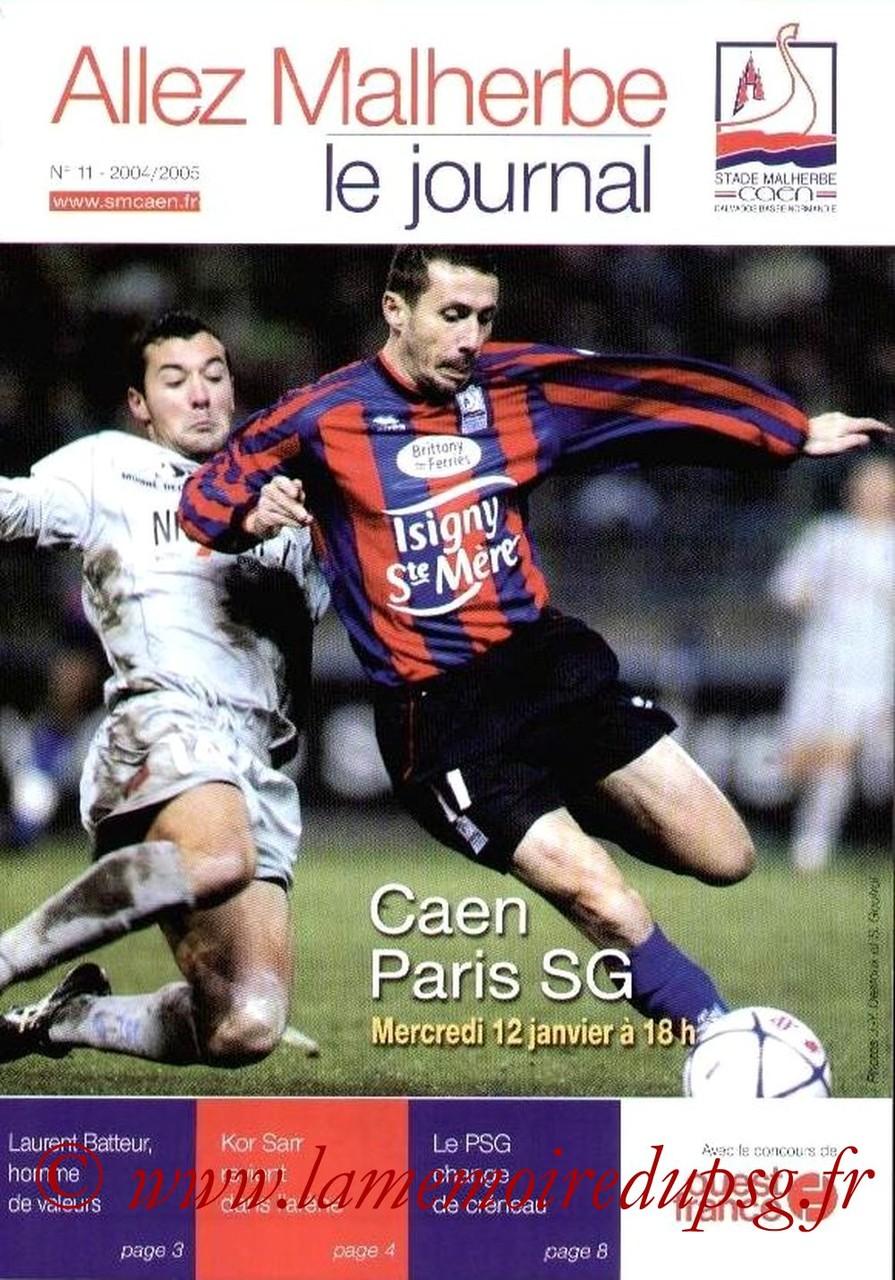2005-01-12  Caen-PSG  (20ème L1, Allez Malherbe N°11)