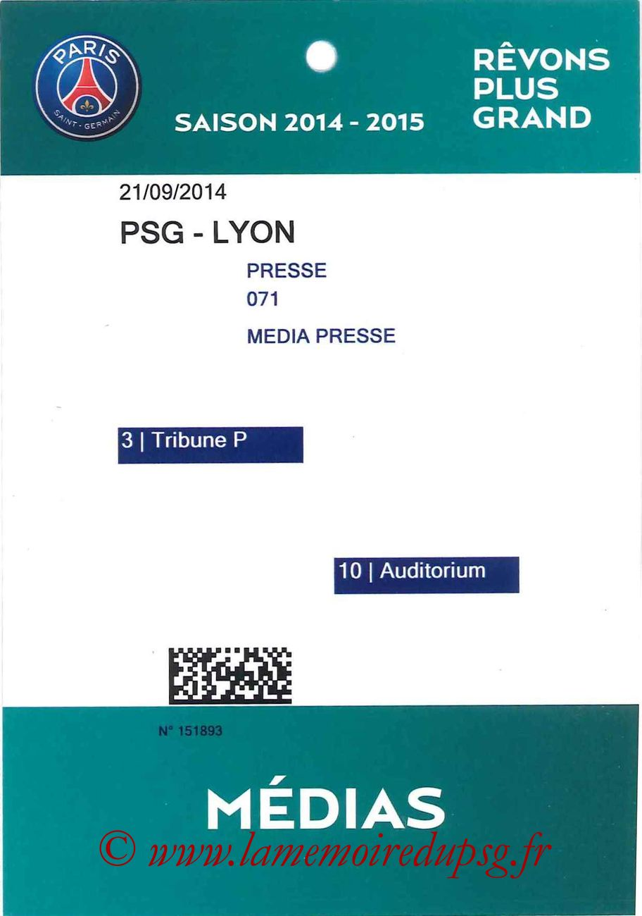 2014-09-21  PSG-Lyon (6ème L1, Média)