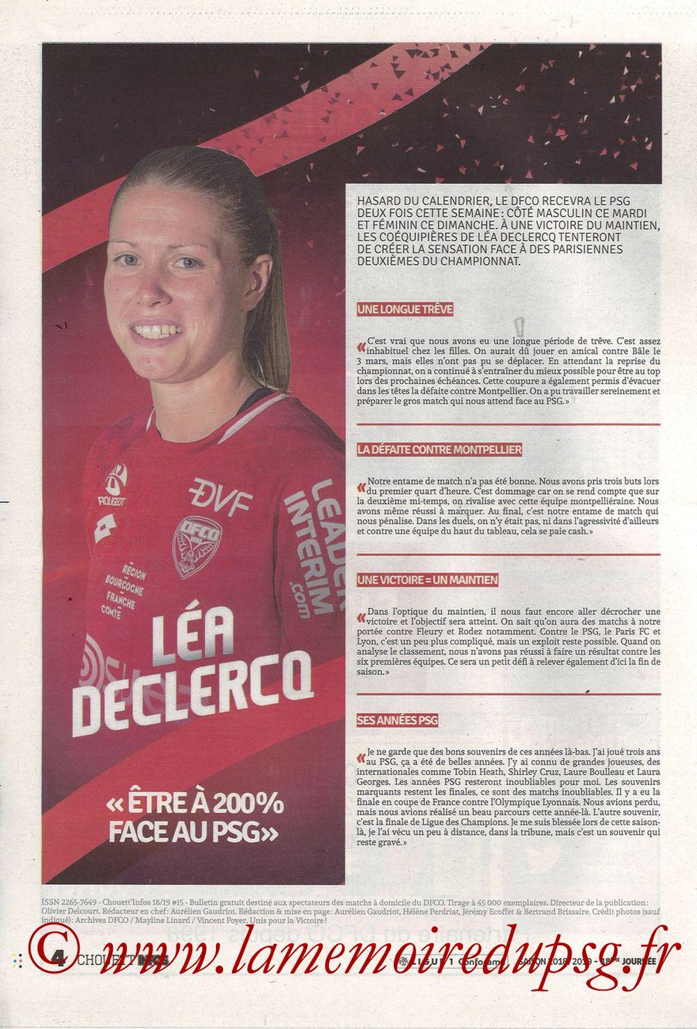 2019-03-12  Dijon-PSG (18ème L1 en retard, Chouett'Infos) - Page 04
