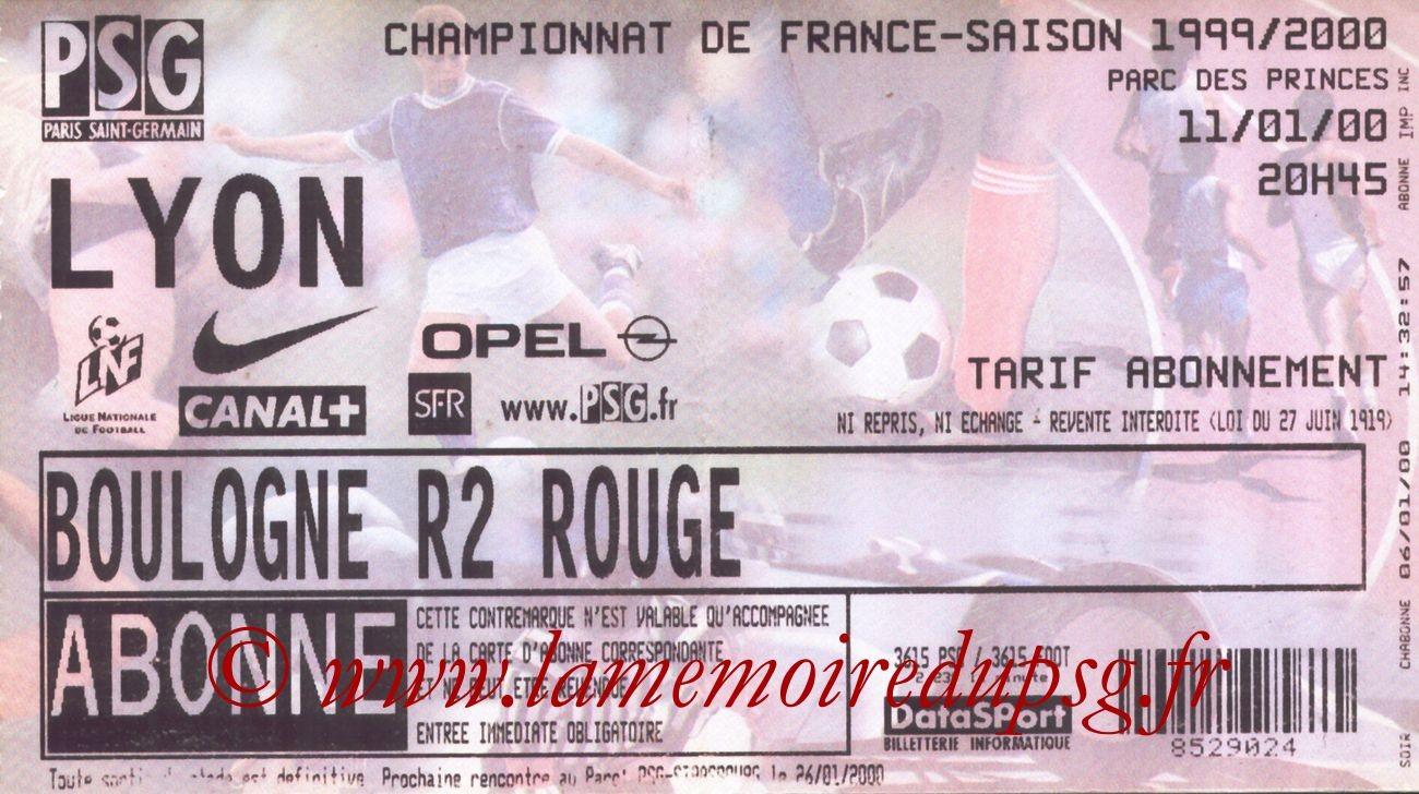 2000-01-11  PSG-Lyon (21ème D1)