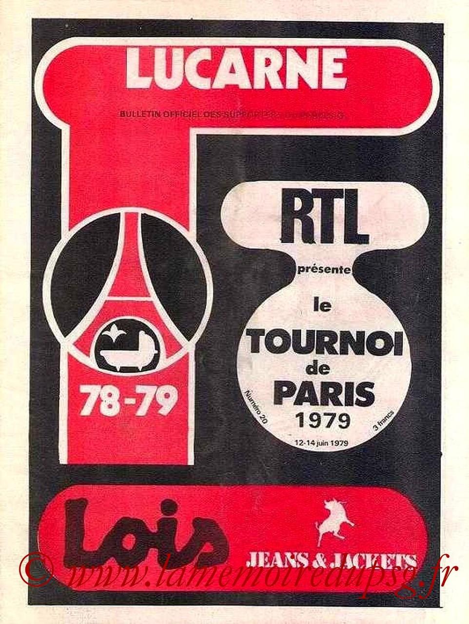 1979-06-12 et 14  PSG-Etoile Rouge de Belgrade et PSG-Sélection Brésilienne (Tournoi de Paris, Lucarne N°20)