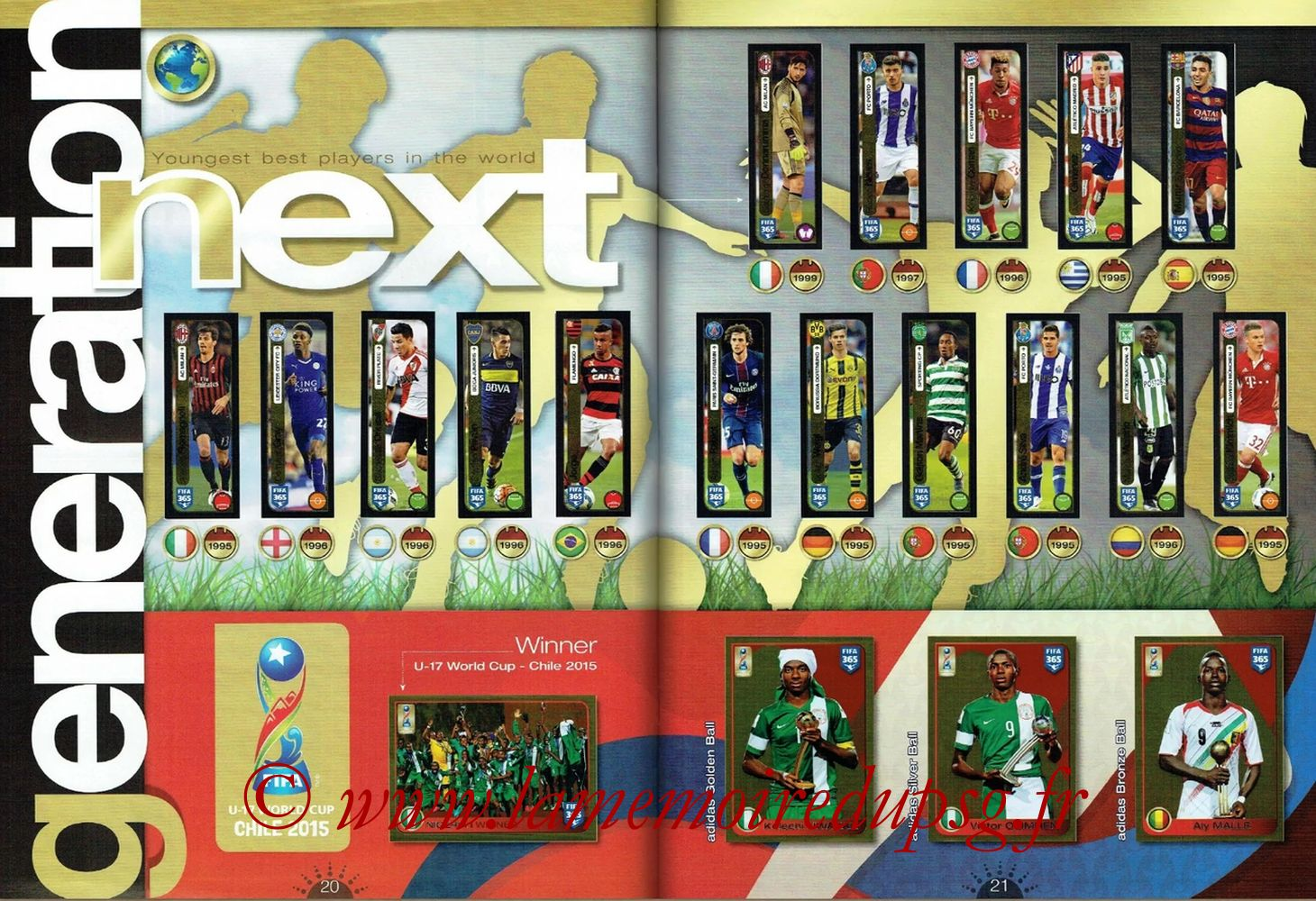 2016-17 - Panini FIFA 365 Stickers - Pages 20 et 21 - Next Generation