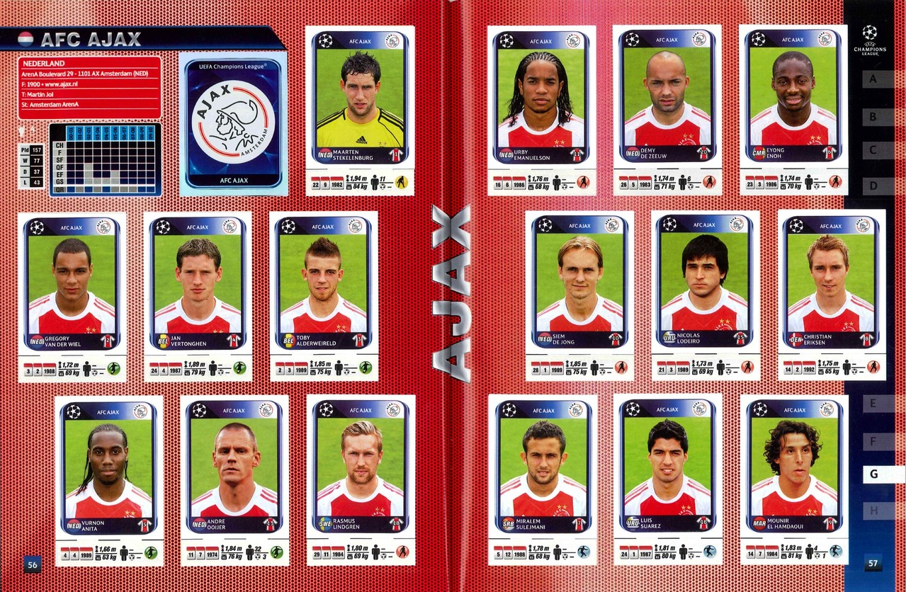 2010-11 - Panini Champions League - Pages 56 et 57 - AFC Ajax