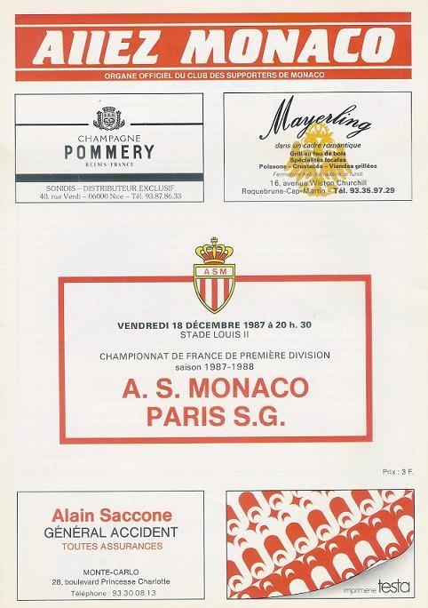1987-12-18  Monaco-PSG (24ème L1, Allez Monaco)
