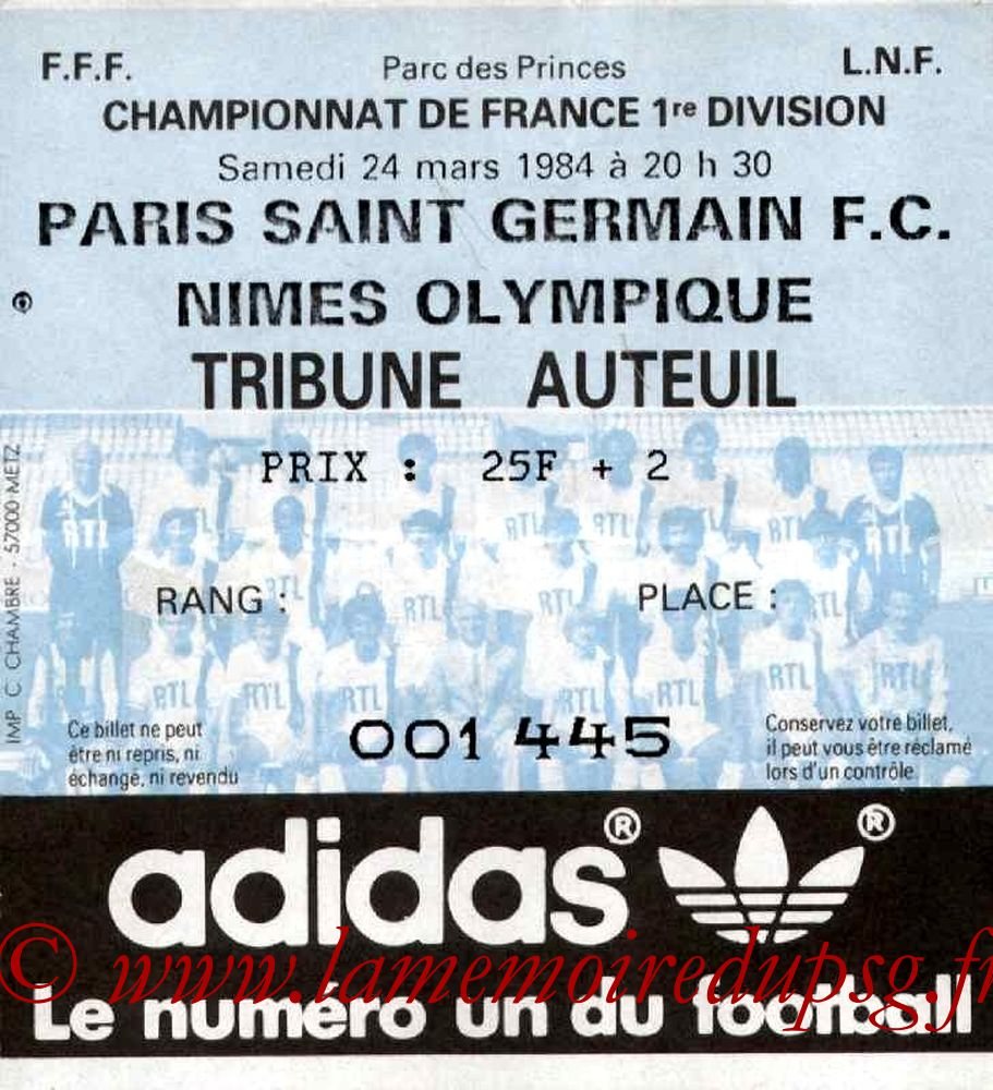 1984-03-24  PSG-Nîmes (32ème D1)