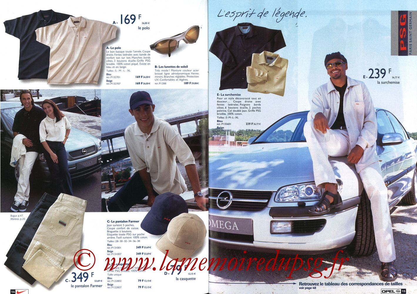 Catalogue PSG - 1998-99 - Pages 14 et 15