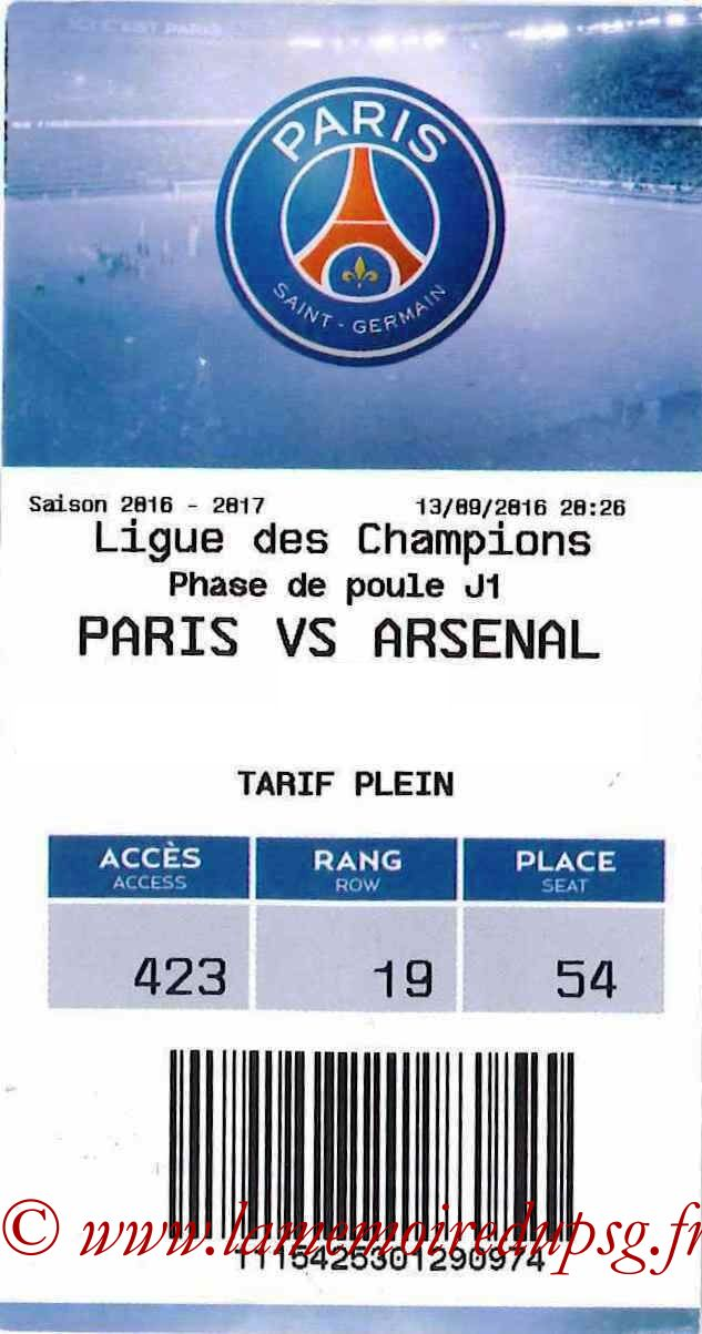 2016-09-13  PSG-Arsenal (1ère C1, E-ticket)