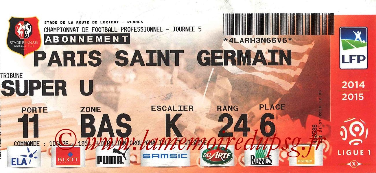 2014-09-13  Rennes-PSG (5ème L1)