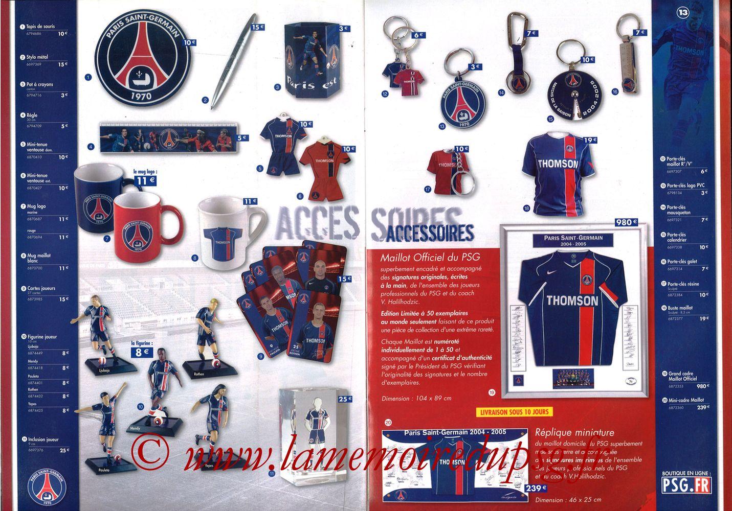 Catalogue PSG - 2004-05 - Pages 08 et 09