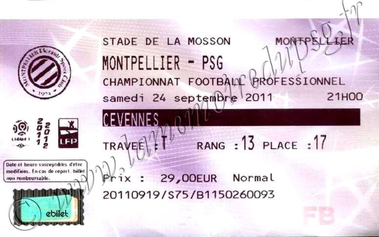 2011-09-24  Montpellier-PSG (8ème L1, Billetel)