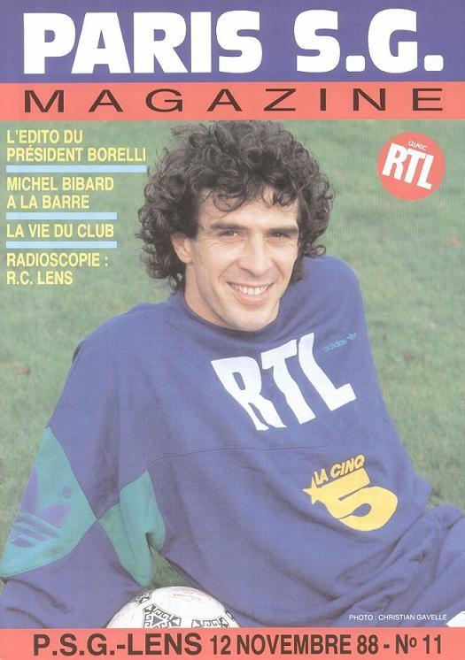 1988-11-12  PSG-Lens (19ème D1, Paris SG Magazine N°11)