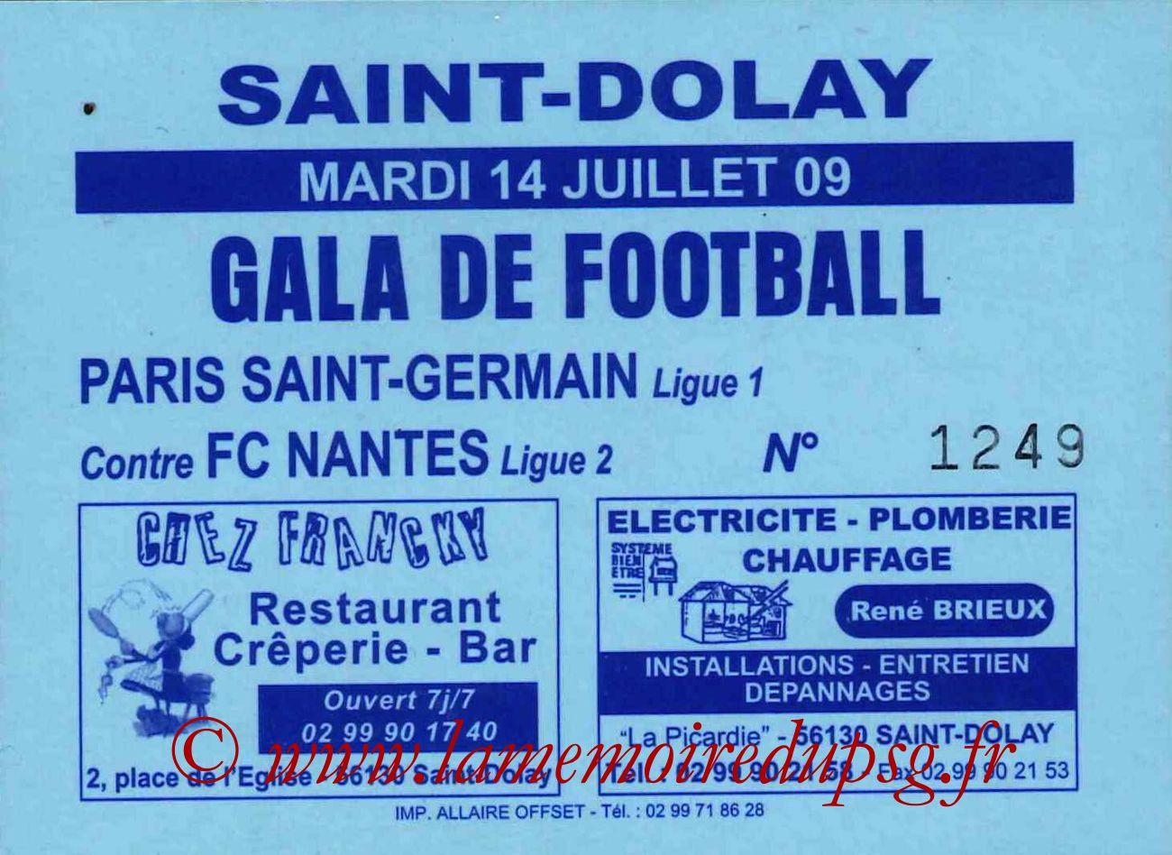 2009-07-14  Nantes-PSG (Amical à Saint Dolay)