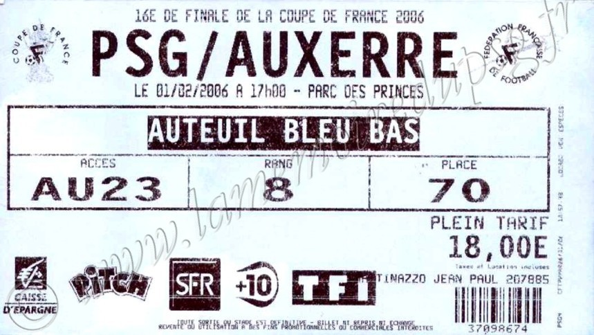 2006-02-01  PSG-Auxerre (16ème Finale CF, bis)