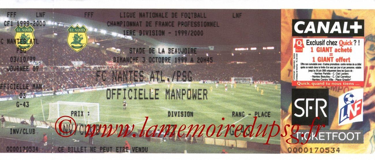 1999-10-03  Nantes-PSG (9ème D1)
