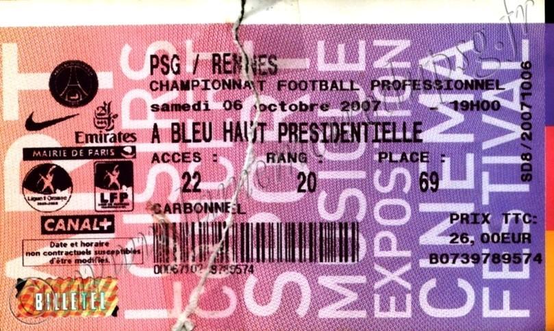 2007-10-06  PSG-Rennes (10ème L1, Billetel)