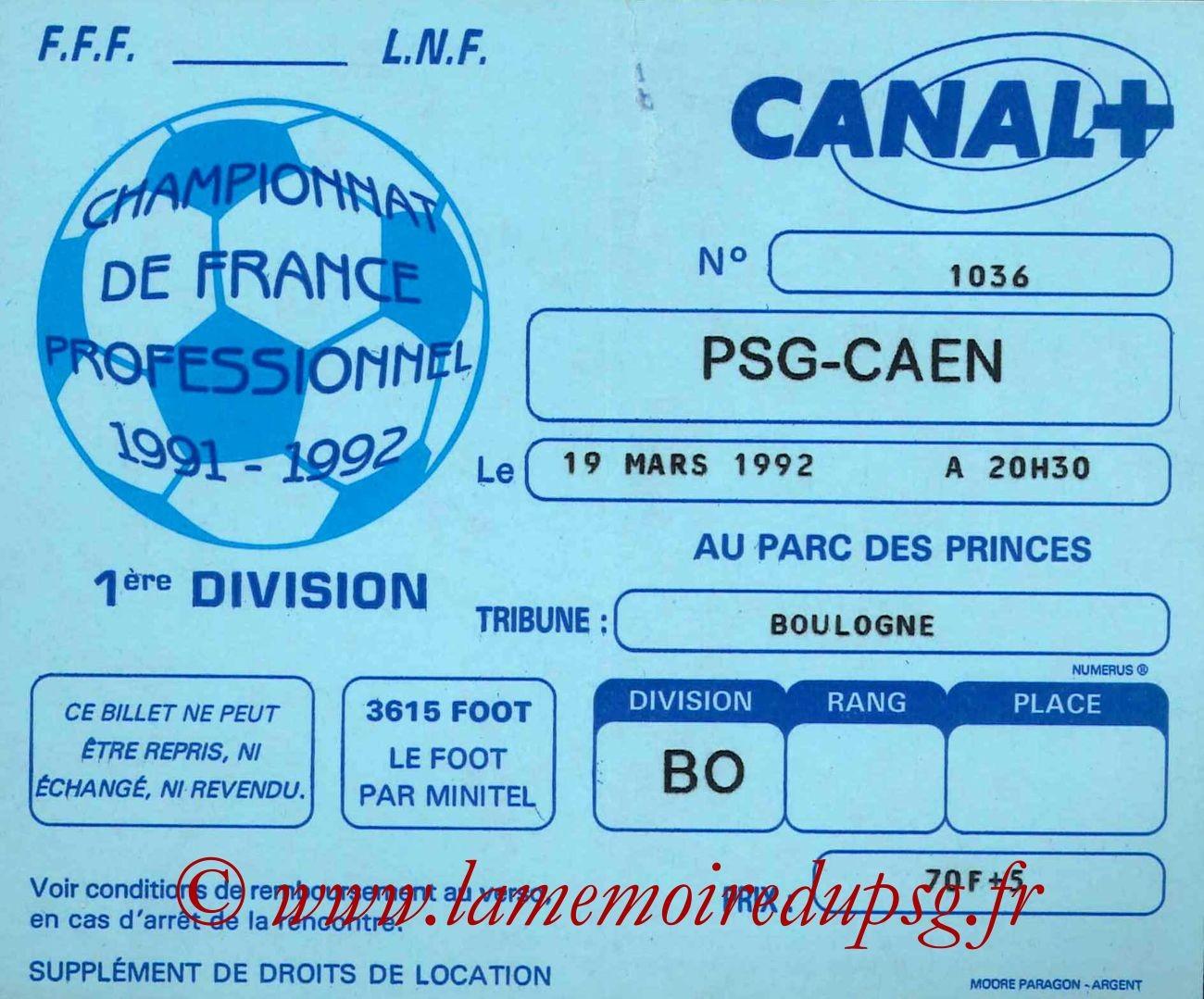 1992-03-19  PSG-Caen (32ème D1)
