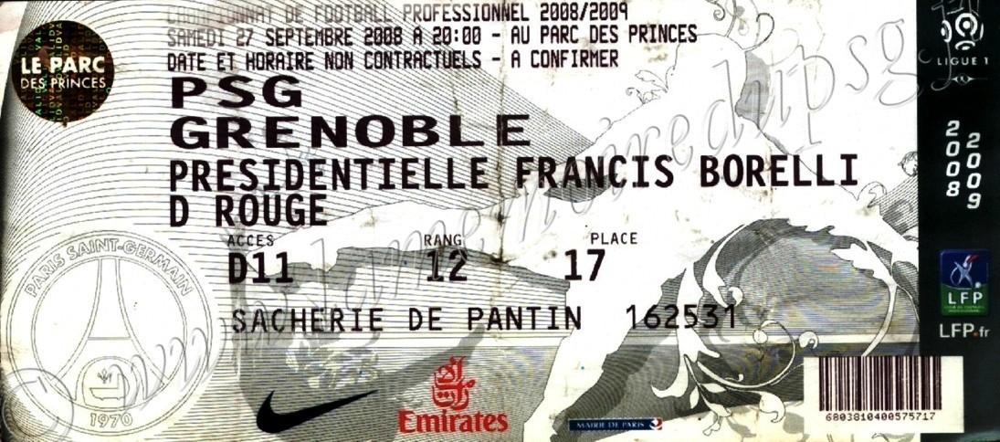 2008-09-27  PSG-Grenoble (7ème L1, bis)