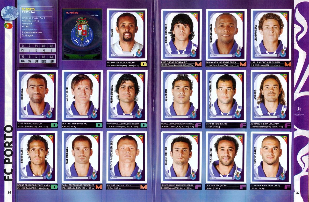 2007-08 - Panini Champions League - Pages 36 et 37 - FC Porto