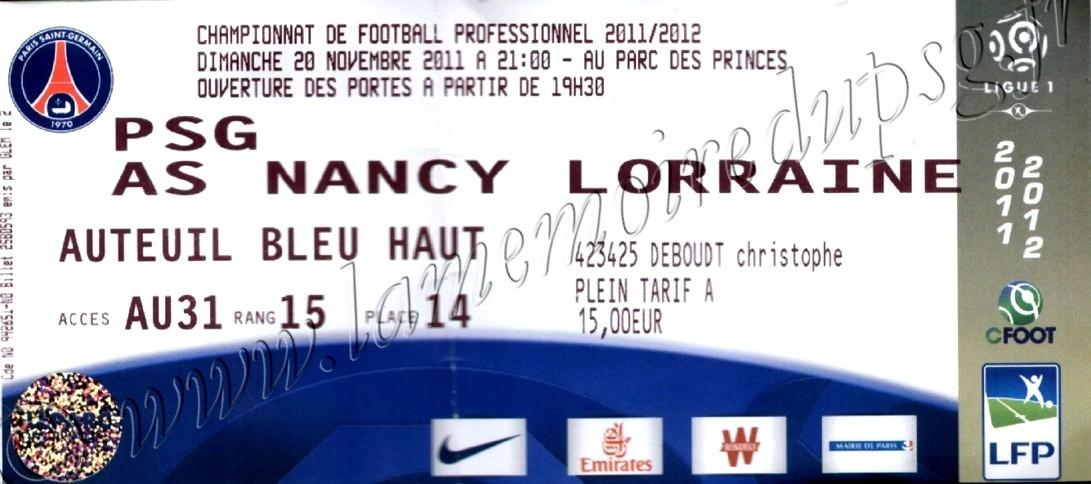 2011-11-20  PSG-Nancy (14ème L1)