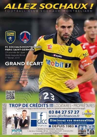 2013-02-17  Sochaux-PSG (25ème L1, Allez Sochaux N°13)