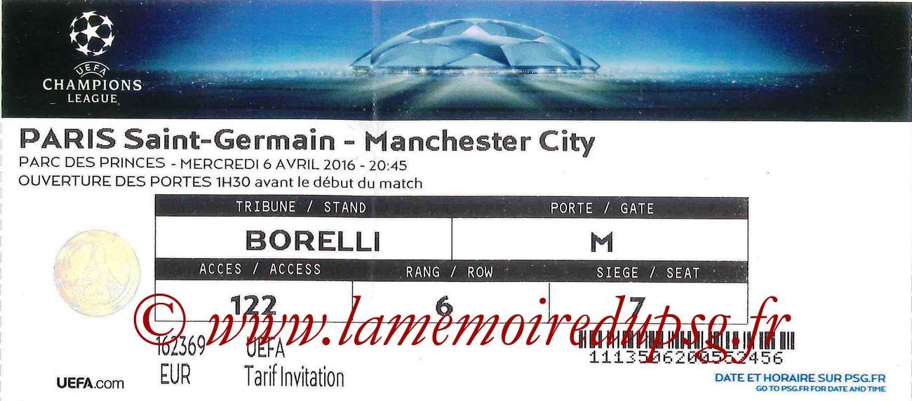 2016-04-06  PSG-Manchester City (Quart Aller C1)