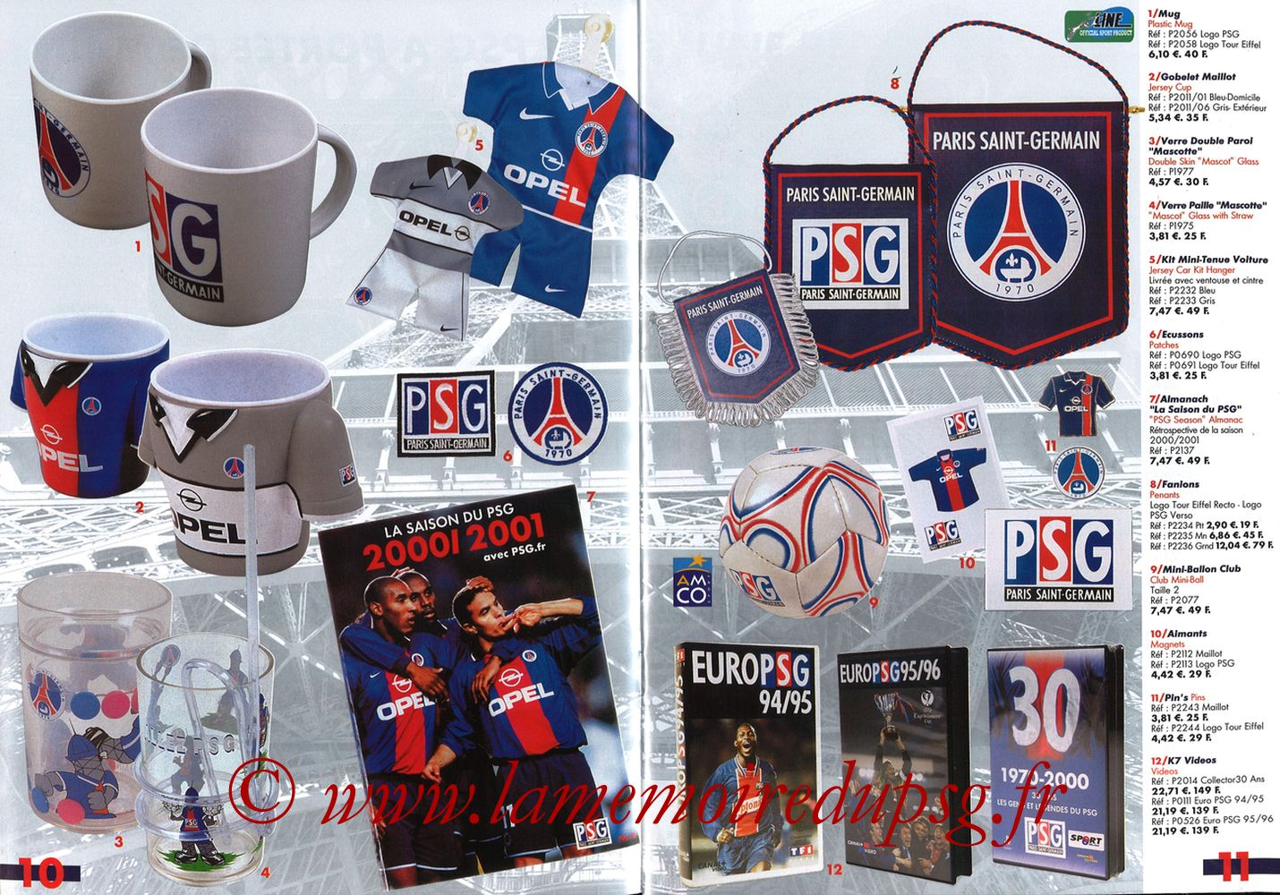 Catalogue PSG - 2001-02 - Pages 10 et 11