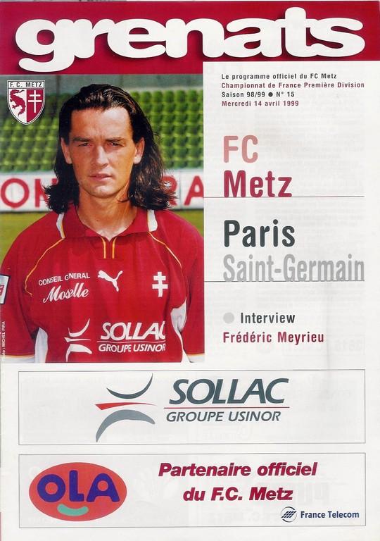 1999-04-14  Metz-PSG (29ème D1, Grenats N°15)
