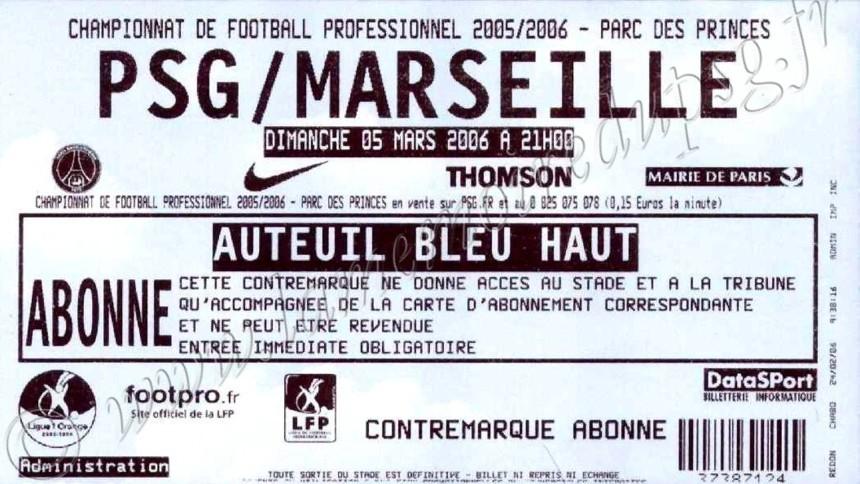 2006-03-05  PSG-Marseille (29ème L1)
