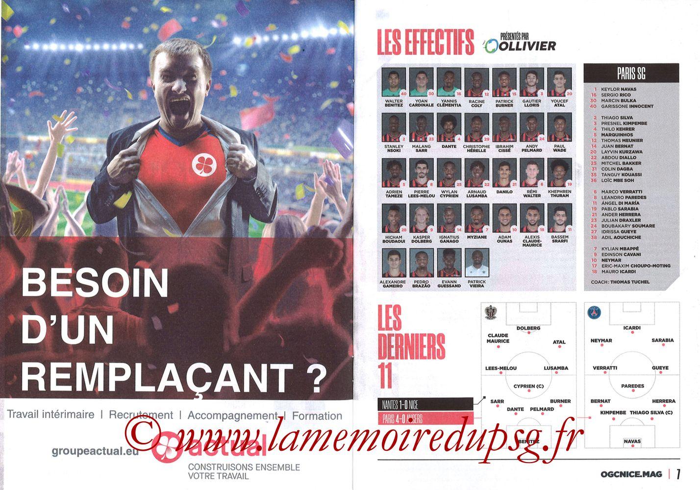 2019-10-18  Nice-PSG (10ème L1, OGCNice Mag N° 333) - Pages 06 et 07