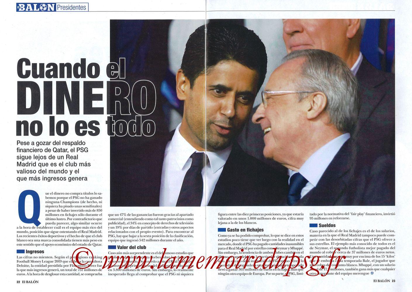 2019-11-26  Real Madrid-PSG (5ème C1, El Balon in the Game N°74) - Pages 22 et 23
