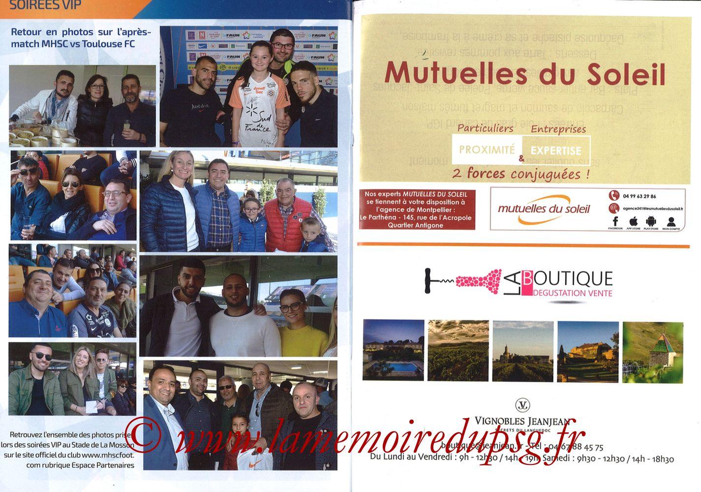 2019-04-30  Montpellier-PSG (34ème L1, L'Echo de la Mosson N°17) - Pages 30 et 31