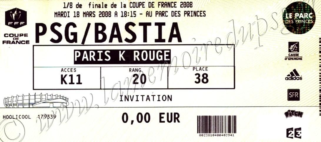 2008-03-18  PSG-Bastia (8ème Finale CF, bis)