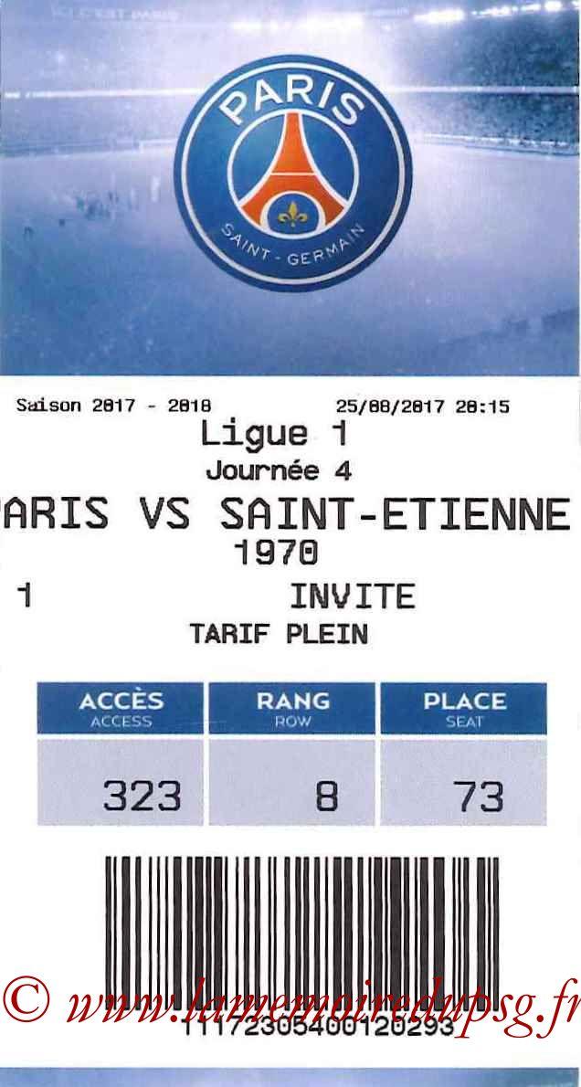 2017-08-25  PSG-Saint Etienne (4ème L1, E-ticket2)