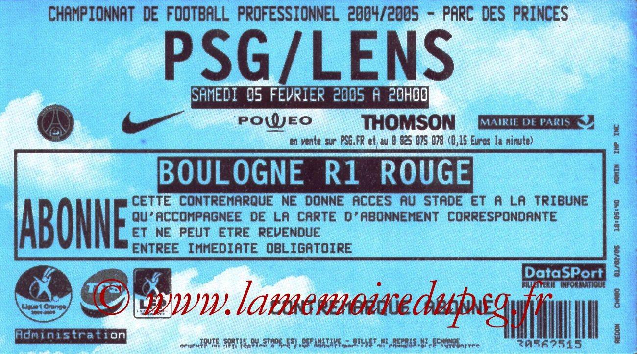 2005-02-06  PSG-Lens (25ème L1)