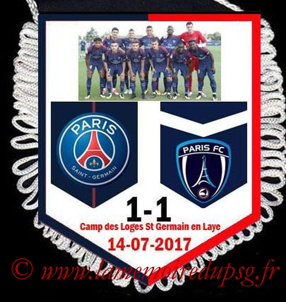 2017-07-14  PSG-Paris FC (Amical à Saint-Germain à huis-clos)