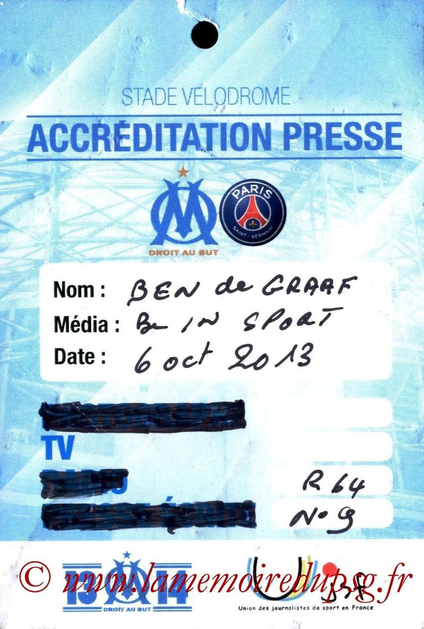 2013-10-06  Marseille-PSG (9ème L1, Presse)