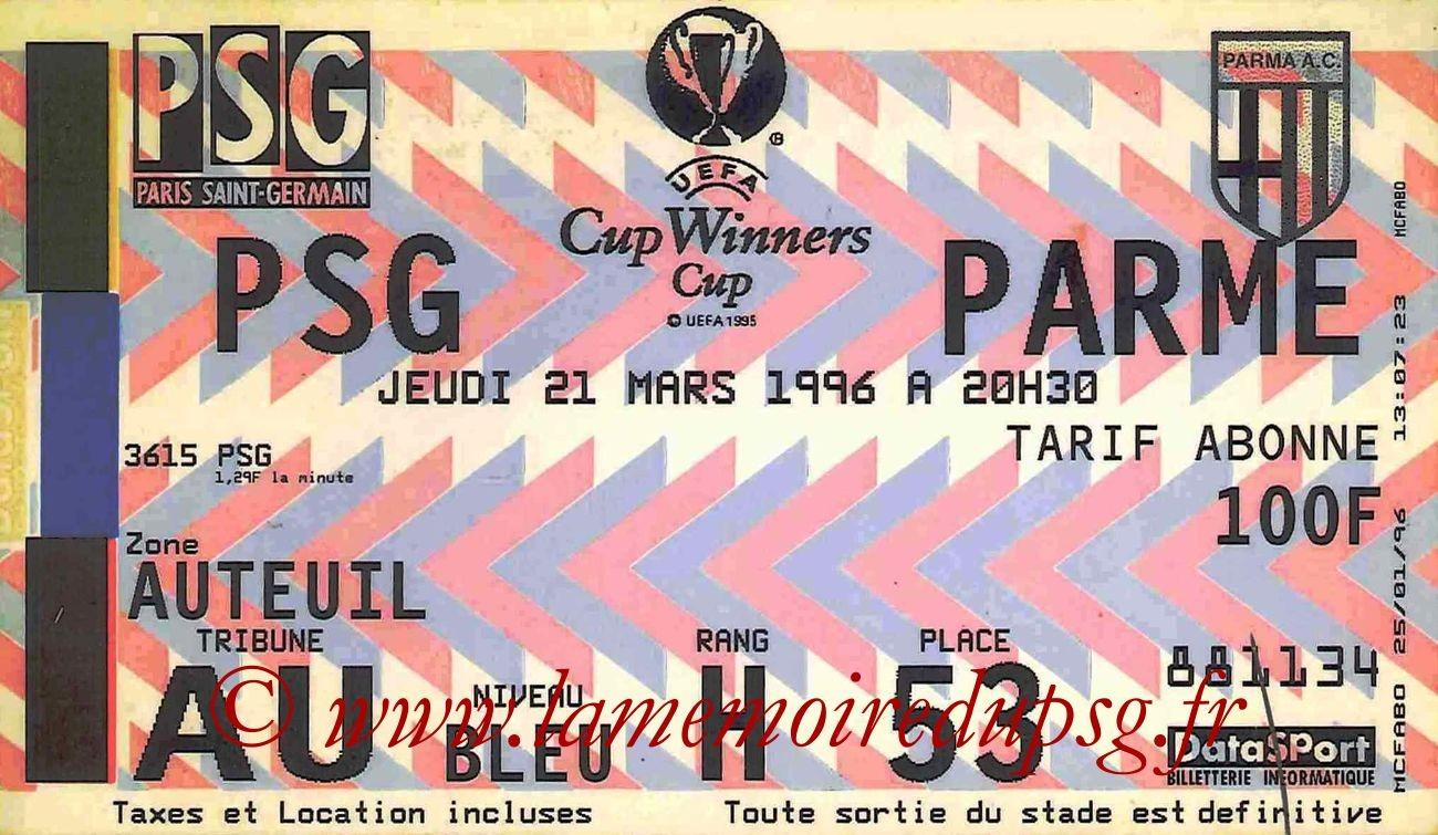 1996-03-21  PSG-Parme (Quart Finale Retour C2)