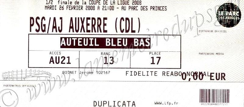 2008-02-26  PSG-Auxerre (Demi Finale CL, bis)