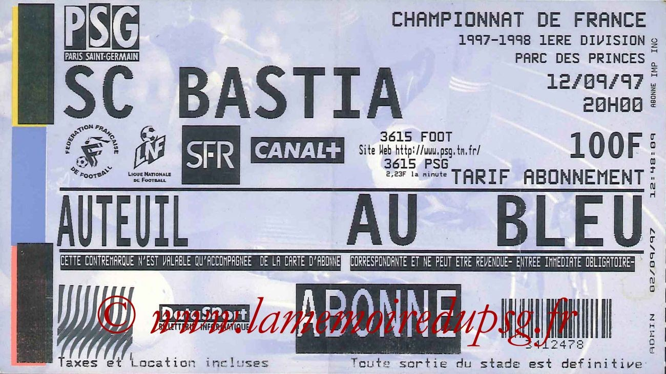 1997-09-12  PSG-Bastia (7ème D1)