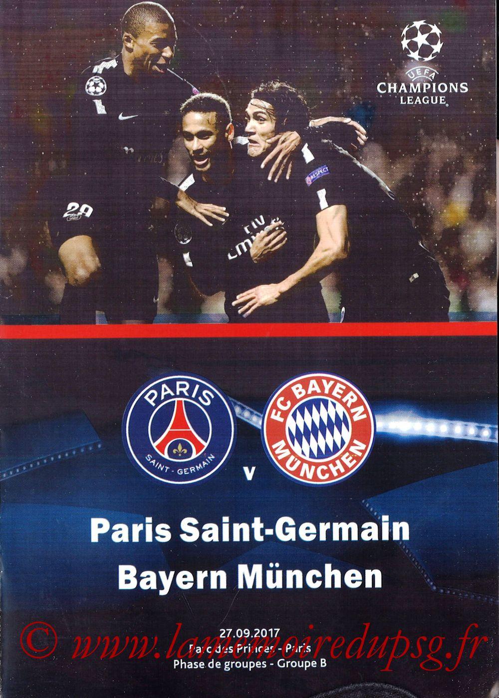 2017-09-27  PSG-Bayern Munich (2ème Poule C1, Programme pirate)