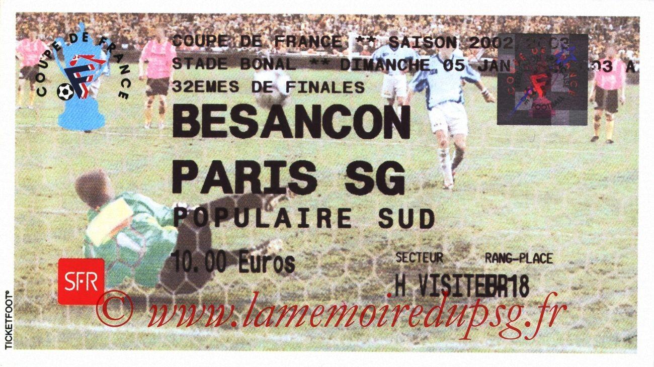 2003-01-05  Besançon-PSG (32ème Finale CF)