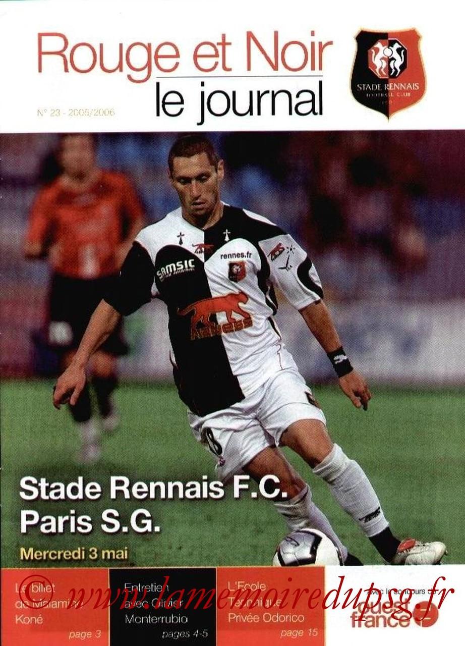 2006-05-03  Rennes-PSG (36ème L1, Rouge et noir N°23)