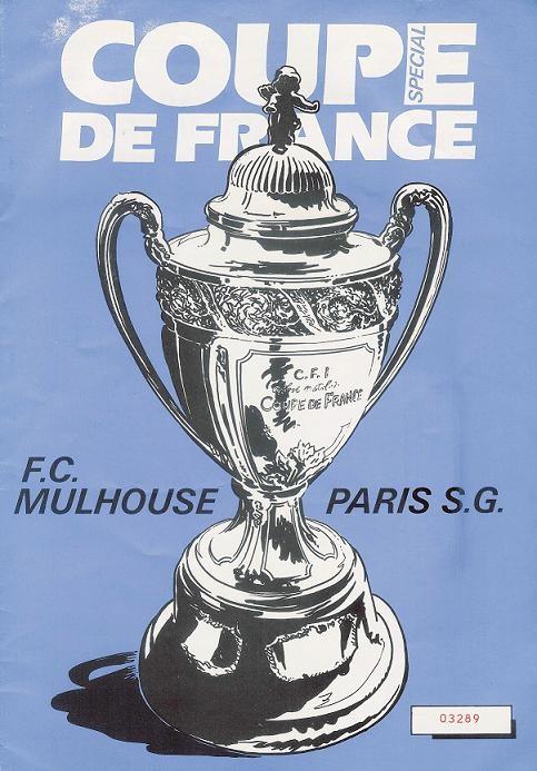 1984-01-28  Mulhouse-PSG (32ème Finale CF à Strasbourg, Programme Officiel)