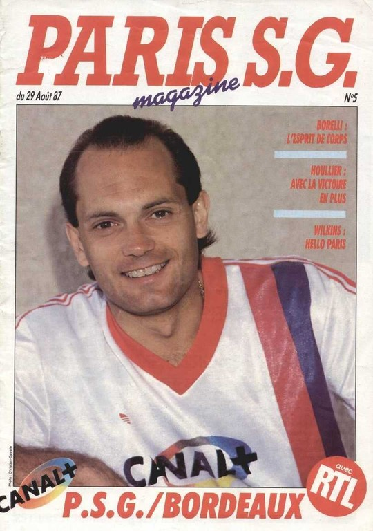 1987-08-29  PSG-Bordeaux (8ème D1, Paris SG Magazine N°5)