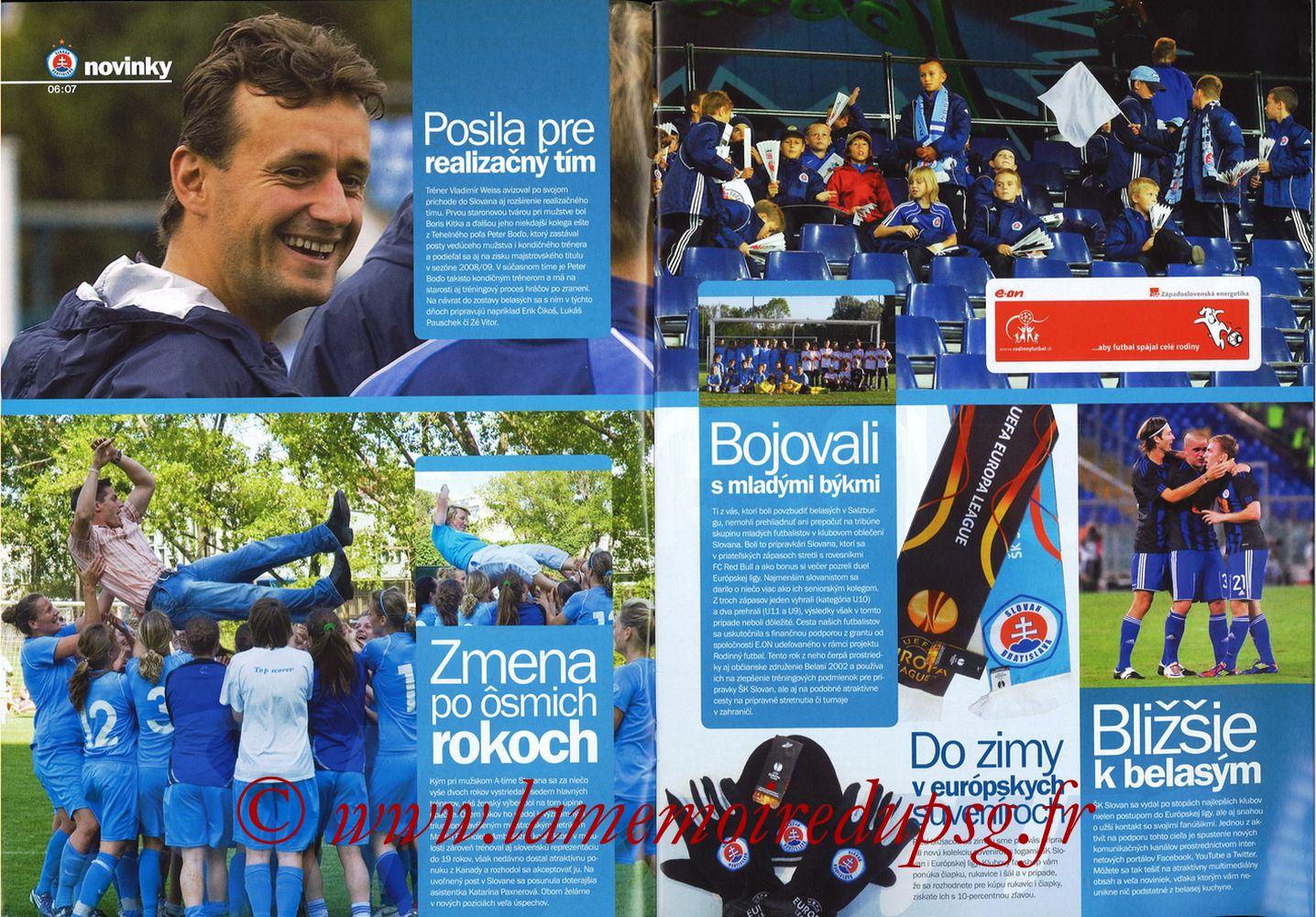 2011-10-20  Slovan Bratislava-PSG (3ème C3, Slovan N°4) - Pages 06 et 07